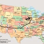 karta över route 66 Karta med alla etapper « Route 66 Vulcan Riders karta över route 66